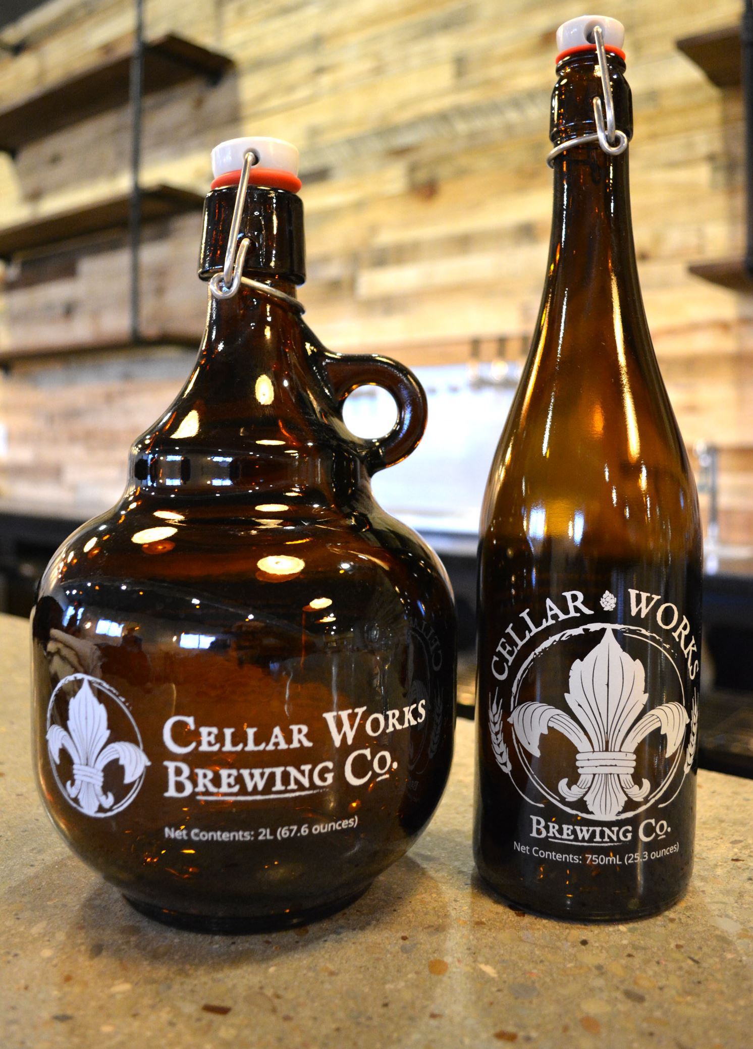 cellar works brewing 7-6 Glassware at Cellar Works Brewing Co., which is opening with a private party on March 4 near Sarver in Buffalo Township, Butler County.
