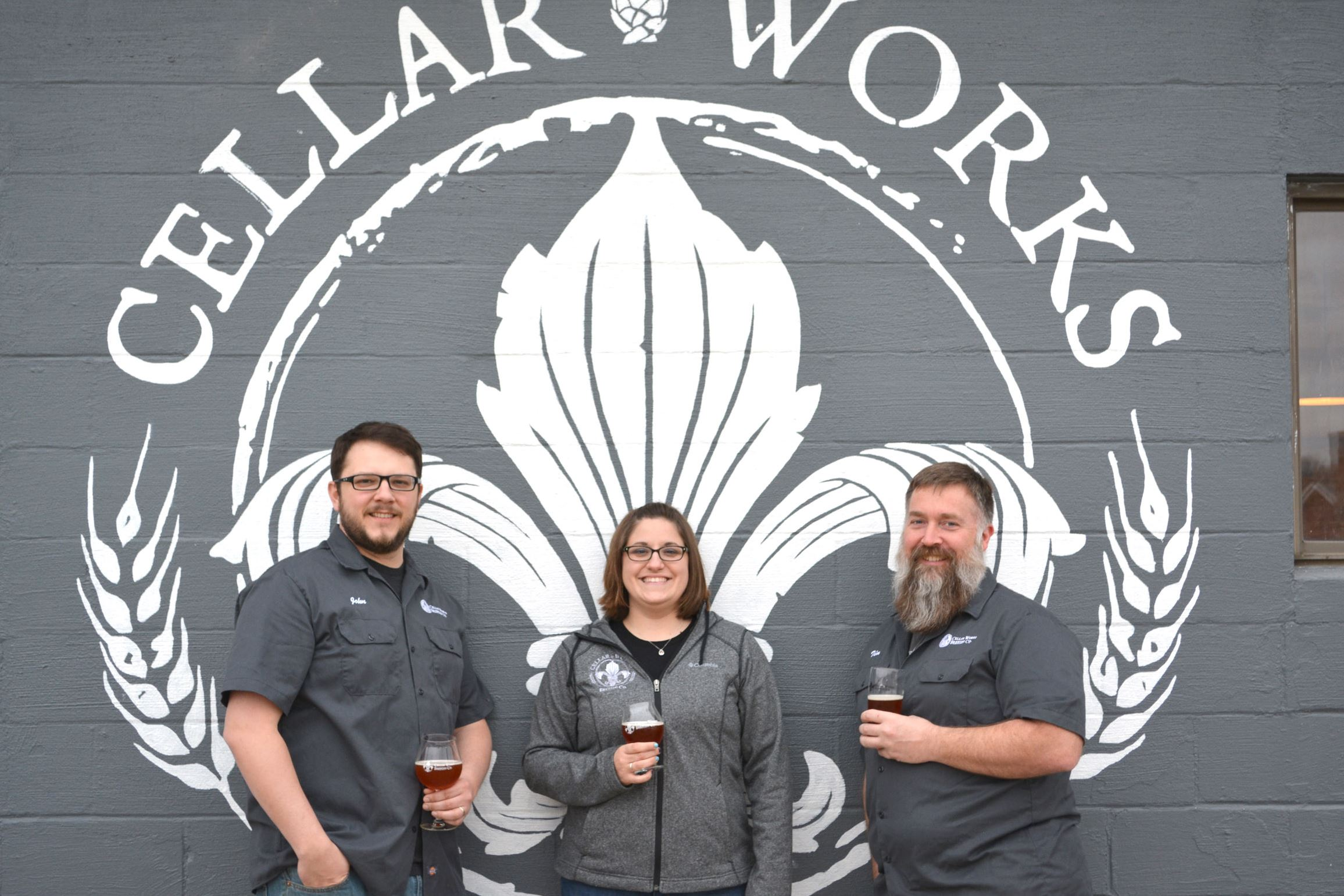 cellar works brewing 8-7 The team behind Cellar Works Brewing Co. in Buffalo Township near Sarver, Butler County: From left, head brewer John Lasher, his wife, Laura Lasher and Tim Bauer.