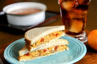 Pimiento Cheese sandwich.