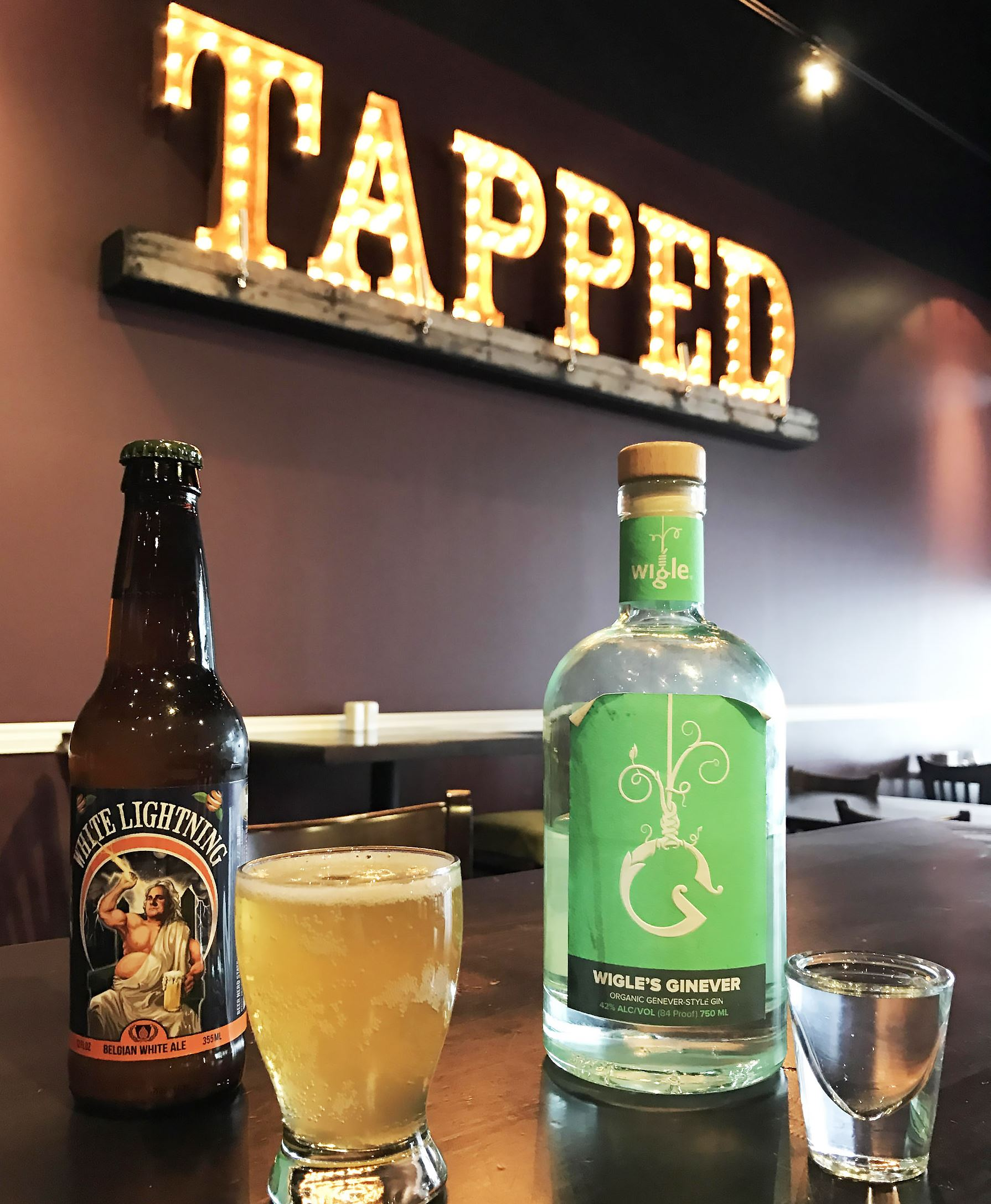tapped boilermaker 2-1 On March 10, Tapped Brick Oven & Pour House in Hempfield will be pouring craft boilermakers pairing Full Pint Brewing beers with Wigle spirits.