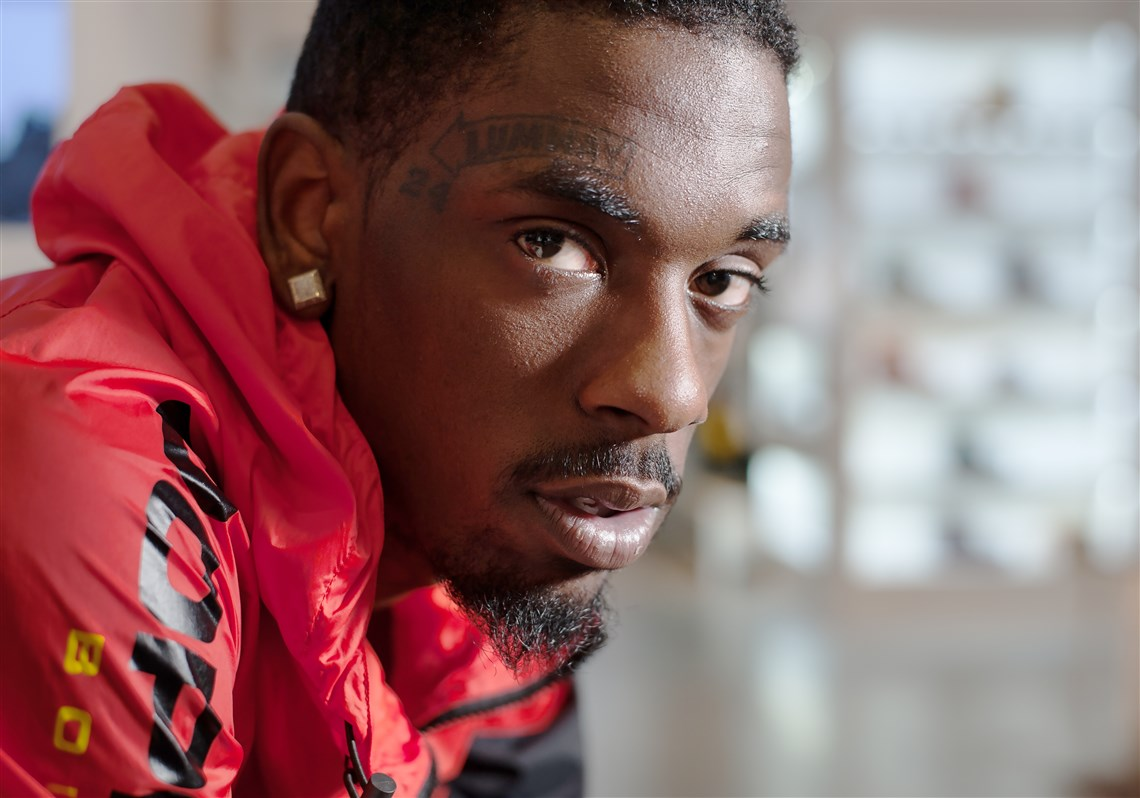 Hill District-native and hip-hop artist Jimmy Wopo at Social Status in downtown Pittsburgh on Monday, Feb. 27, 2017.
