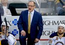 Buffalo Sabres head coach Dan Bylsma during a March game against the Penguins in Pittsburgh.