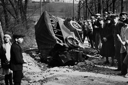 The escort for the armored car was also taken out in the explosion that enabled America's first known armored-car robbery. It happened March 11, 1927, on what is now Brightwood Road in Bethel Park.