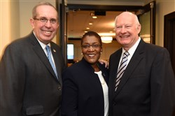 Honorees from the Homeless Children's Education Fund annual fundraiser, Champions for Children at the Rivers Club on March 6. From left: Ray Buehler, Maurita Bryant and George Szymanski.