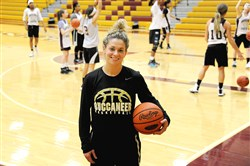 Chartiers-Houston high school girls basketball coach Laura Montecalvo led the team to its first WPIAL title last week.