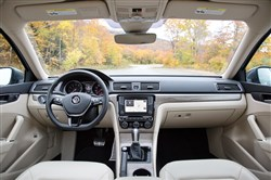 Interior: The 2017 Volkswagen Passat SEL interior is comfortable and roomy, but its technology is a bit behind the times.