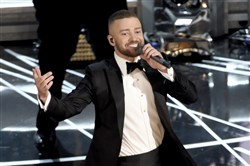 Justin Timberlake performs at the Oscars in 2017.