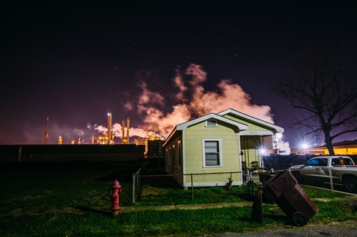 A home on Norco Street in Norco, La., that sit a few hundred feet from the fence line of Norco Manufacturing Complex.