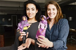 Gisele Fetterman, left, of Braddock and Kristen Michaels of Edgewood, created Hello Hijab — hijabs for dolls.