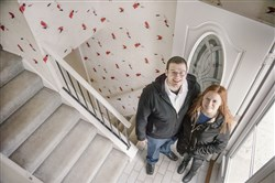 First-time homebuyers Josh Tobolski, 26, and his fiancee, Denise Dougherty, 22, are in the process of buying this home in Ross. The sellers left a note in the house to tell potential buyers what they have enjoyed about the home and neighborhood.