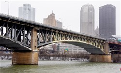 The Liberty Bridge will be closed for repairs this weekend: beginning at 3 p.m. Saturday.