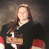 Sophomore Madison Barker of Indiana High School will make history in goal.