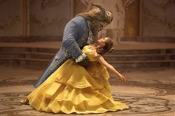 "Emma Watson stars as Belle and Dan Stevens as the Beast in Disney's ""Beauty and the Beast,"" a live-action adaptation of the studio's animated classic."