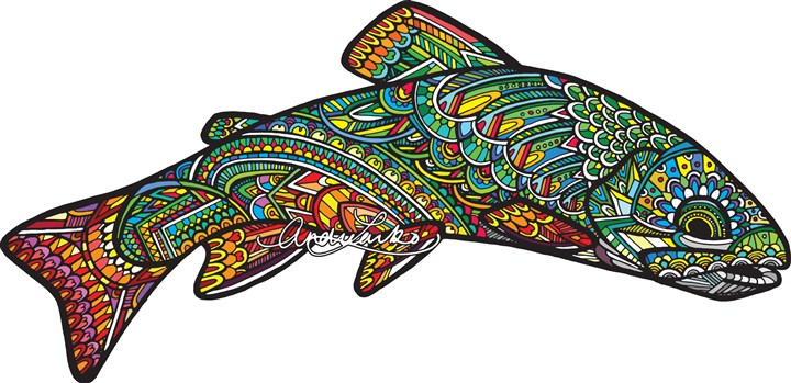 fishart-1 Fish art by Andrea Larko