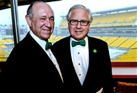 Honoree Sy Holzer with Howard Fineman.