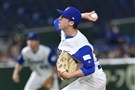 Corey Baker of Israel, formerly of Pitt, throws against the Netherlands during the World Baseball Classic on Monday in Tokyo.