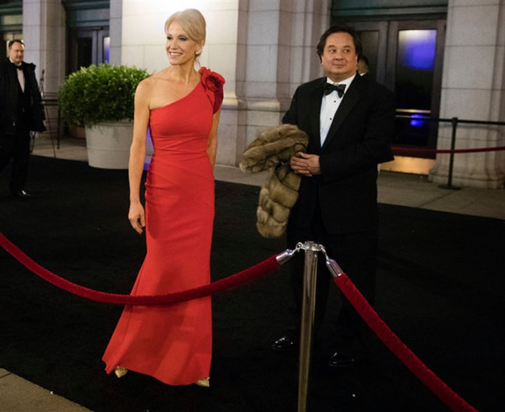 19Conway-master768.jpg President Trump has selected George T. Conway III, right, the husband of Kellyanne Conway, to head the civil division of the Justice Department.