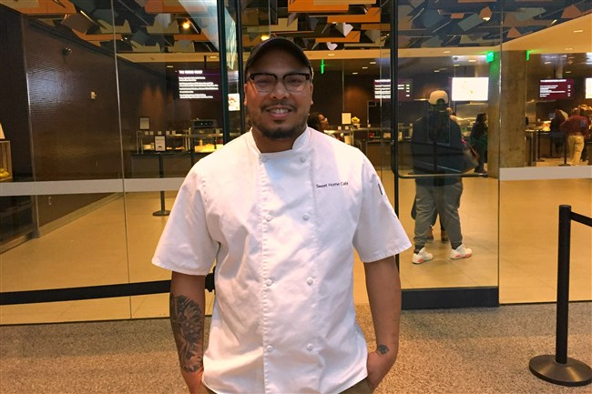 Chef Jerome Grant is the executive chef of Sweet Home Cafe at the National Museum of African American History.
