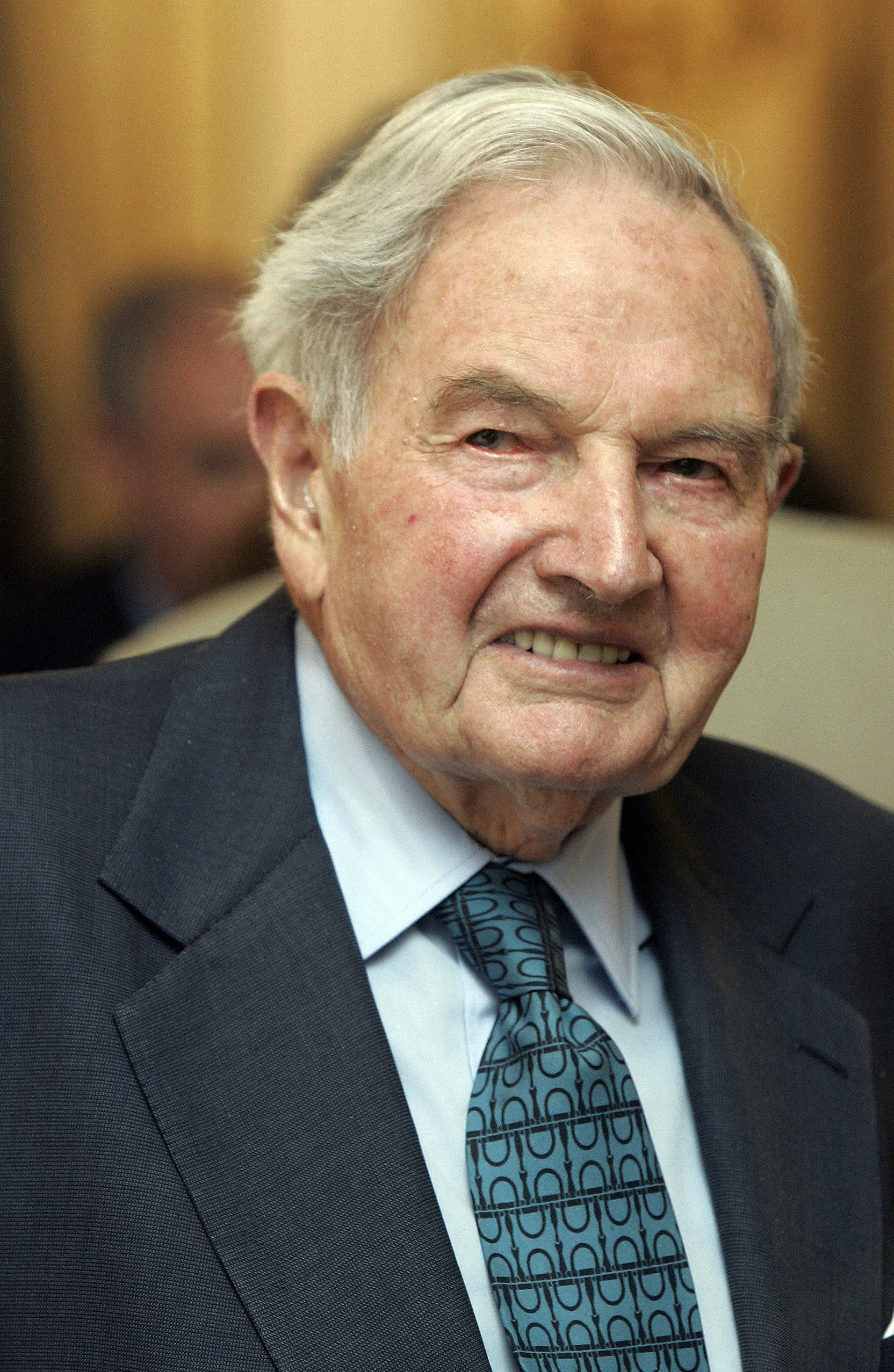 Obit David Rockefeller-1 FILE - In this May 15, 2007, file photo, David Rockefeller participates in the C40 Large Cities Climate Summit in New York. The billionaire philanthropist who was the last of his generation in the famously philanthropic Rockefeller family died Monday, March 20, 2017, according to a family spokesman. He was 101 years old. (AP Photo/Richard Drew, File)