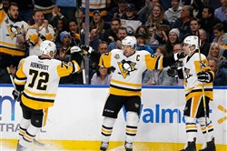 Penguins captain Sidney Crosby scored a pretty goal against the Sabres Tuesday in Buffalo.
