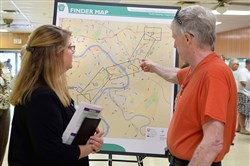 Residents attned a public meeting on the Mon-Fayette Expressway in August in West Mifflin.