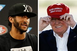 Colin Kaepernick and President Donald Trump have been at odds since the former 49ers quarterback began protesting during the national anthem before NFL games.