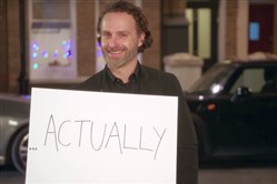 "Andrew Lincoln, star of ""The Walking Dead,"" takes part in an NBC trailer released Wednesday to promote the ""Love Actually"" reunion set for Red Nose Day on May 25."