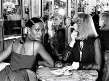 PITTSBURGH CONNECTIONS: Model Naomi Sims, looking over her shoulder, sits at a marble table inside the Plaza Hotel in New York City in a photo that appeared in the January 1973 issue of Vogue. Ms. Sims grew up in Homewood and graduated from Westinghouse High School.