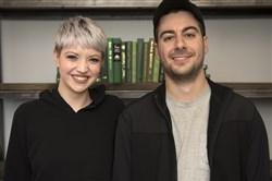 Erin Drischler and her fiance, Jordan Tomb, are creators of the Garment Project, a nonprofit that provides treatment centers with new sizeless clothing that will be distributed to women who are recovering from eating disorders as they transition back into their daily lives.