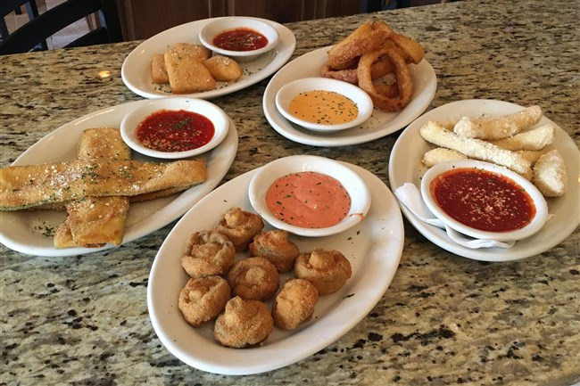 A selection of appetizers at Calabria's in Castle Shannon.