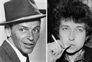 In July 1967, two legends were in town: One performing, the other watching. In a recent interview, Bob Dylan, left, said he made a special trip to Pittsburgh's Civic Arena, where he saw Frank Sinatra play for the first time.