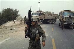 Afghan soldiers in the strategic town of Sangin in the southern province of Helmand in 2013. More British and later American Marines died in Sangin than in any of the country's roughly 400 other districts.