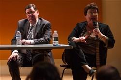 Pittsburgh Mayor Bill Peduto and City Councilwoman Darlene Harris.