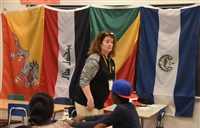 Gina Andreassi teaches her English as second language class at Brasher High School.