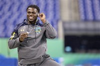 Safety Jabrill Peppers may be a target for the Steelers in the NFL draft.