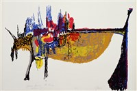 J. Eugene Grigsby American, 1918-2013 African Journey-The Bridge, c. 1981 serigraph on paper 22 x 30 in.