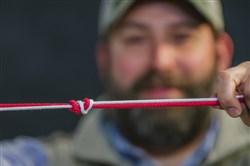 When fishing line breaks, it's usually at the knot. Rob Reeder of Trout Unlimited ties a line-to-line connecting Surgeon's Knot.
