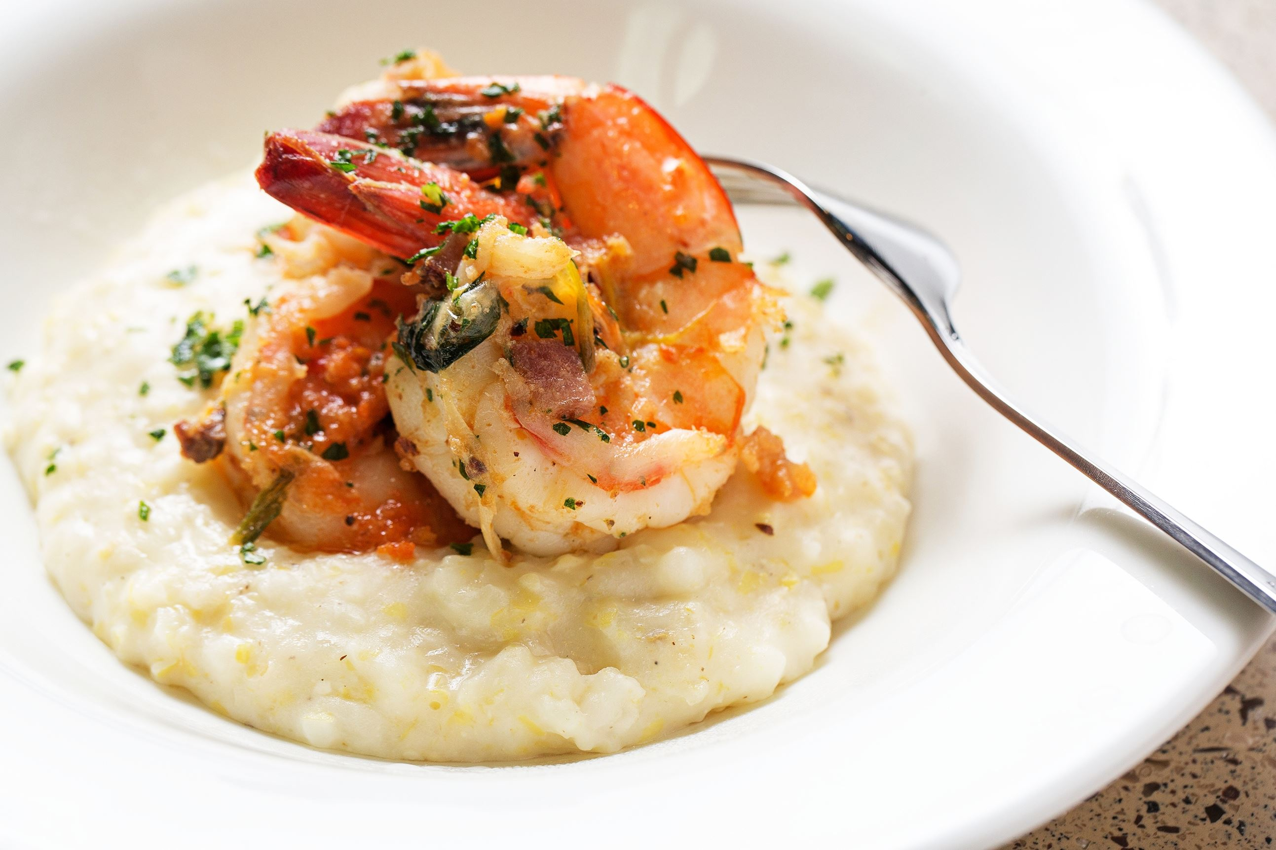SWEETHOME2-1 Familiar favorites such as Shrimp and Grits are one the menu at the National Museum of African American History and Culture's Sweet Home Cafe.