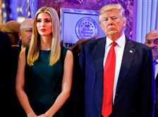 Team player: Ivanka Trump and President Donald Trump on Jan. 11.