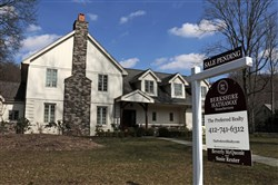 A home with a sale pending in Sewickley. On Tuesday, the National Association of Realtors released its February report on pending home sales, which are seen as a barometer of future purchases.