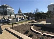Shots were fired Wednesday morning outside the Rayburn building on the grounds of the U.S. Capitol. A person is in custody after ramming a U.S. Capitol police cruiser.