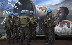United Nations peacekeeping soldiers last year in Goma, the Democratic Republic of Congo.