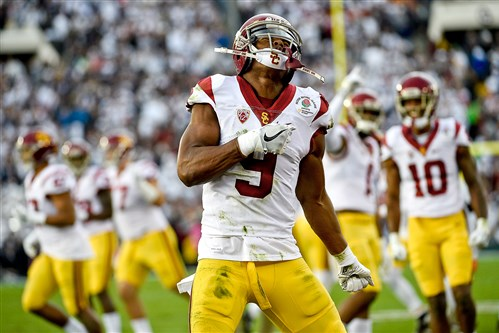 Wide receiver JuJu Smith-Schuster went to the Steelers in the second round of the NFL draft on Friday night.