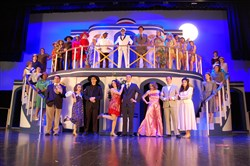 "The cast of ""Anything Goes"" at West Mifflin Area High School."