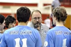 Peter Barakat is the new boys volleyball coach at Bishop Canevin.