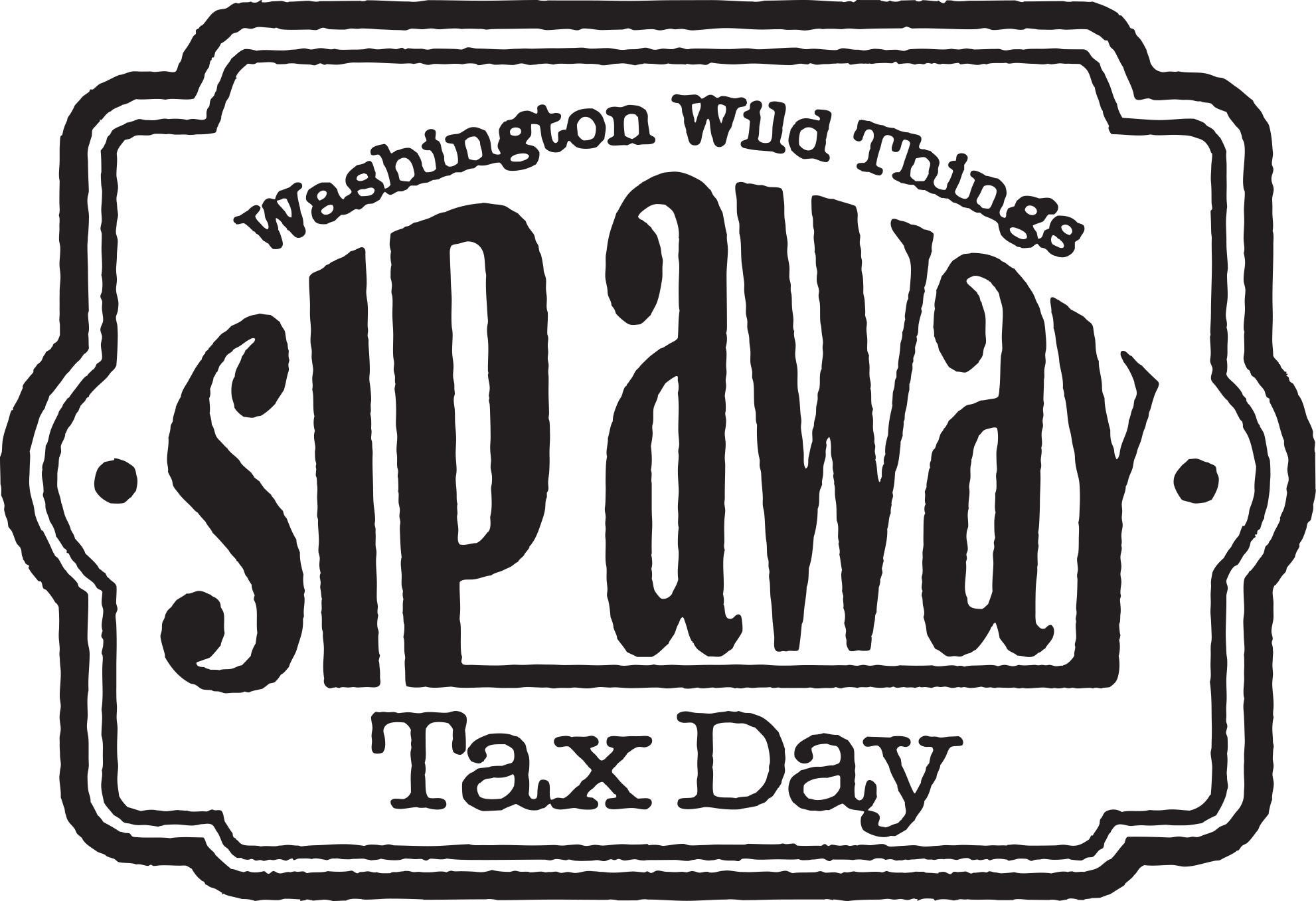 sip away tax day logo Logo for the Washington (PA) Wild Things Sip Away Tax Day booze fest.