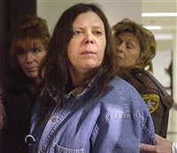 In this Jan. 20, 2004 file photo, Marjorie Diehl-Armstrong is seen before a hearing at the Erie County Courthouse in Erie, Pa.