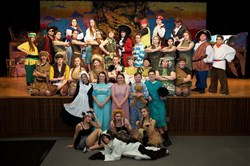 "The cast of ""Peter Pan,"" Springdale High School's 2017 spring musical."