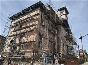 Fire Station No. 26 in Brookline undergoes restoration work in April 5. A new report highlights several city structures that are in poor condition and need work, including: Firehouse No. 24 in the South Side Flats, the Zone 4 police station and firehouse No. 18 in Squirrel Hill, firehouse No. 7 in Stanton Heights, firehouse No. 17 in Homewood and Medic 8 in Allentown.