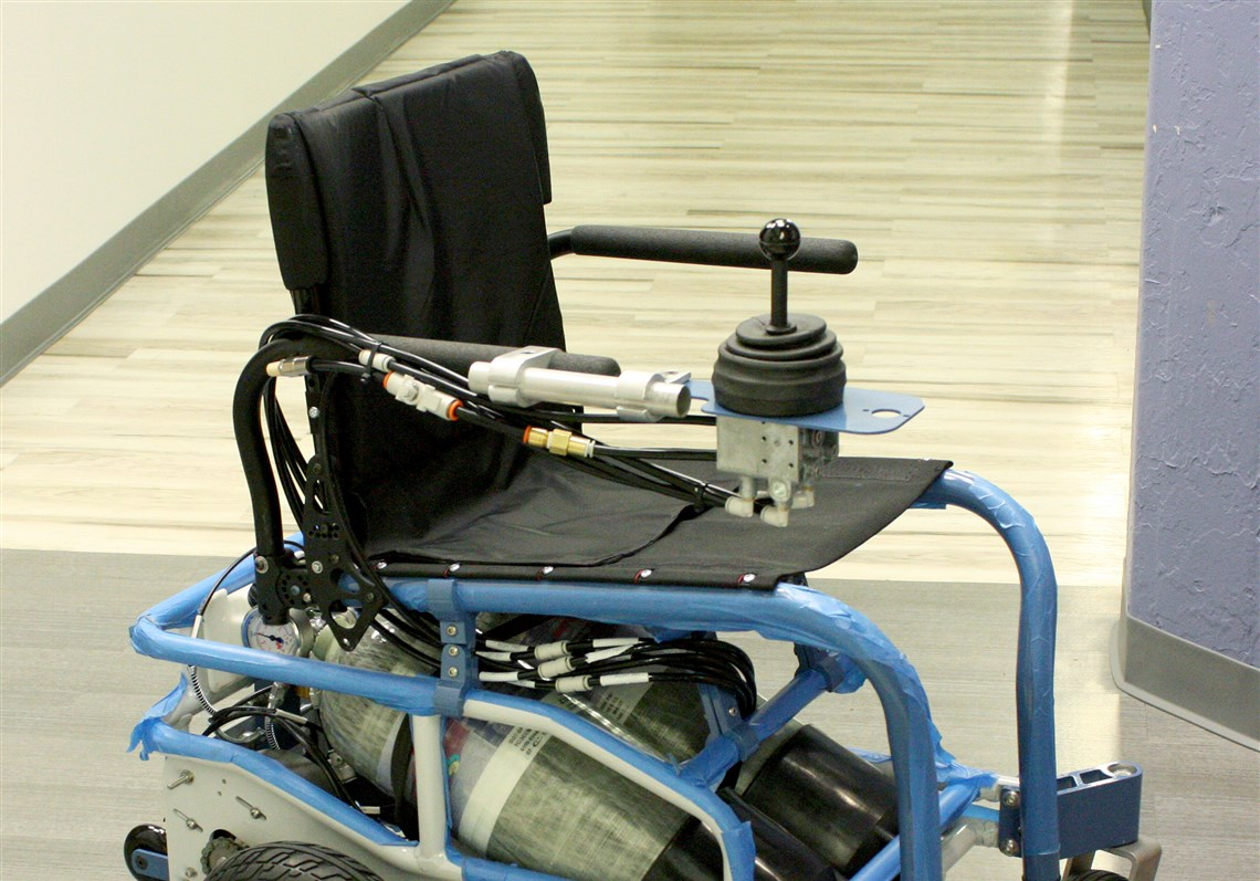 HERLu0027s PneuChair Wheelchair, Fully Waterproof And Powered By A  Compressed Air Powered Motor